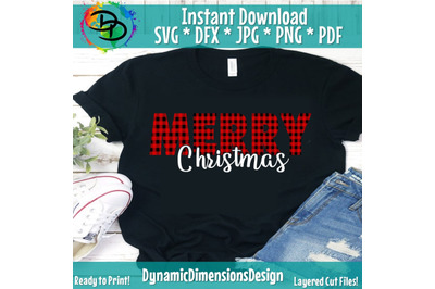 Merry Christmas SVG, Christmas Tree SVG, Christmas SVG, Buffalo plaid,