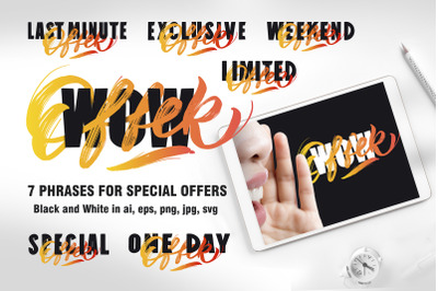 7 phrases for special offers