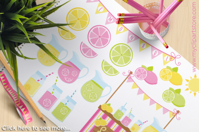 Lemonade Stand Vector Clipart