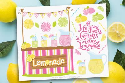 Lemonade Stand Vector Clipart