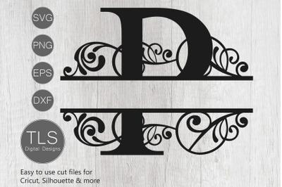 Letter P Split Monogram SVG, Split Monogram SVG, Letter P cricut
