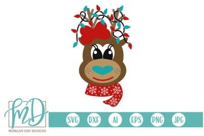 Girl Reindeer SVG