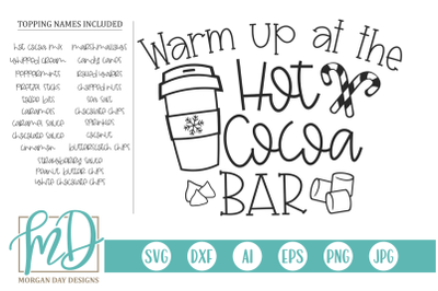 Warm Up At The Hot Cocoa Bar SVG