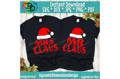 Christmas, Christmas SVG, Mr. Claus Mrs. Claus, Mr. Claus svg, Mrs. C
