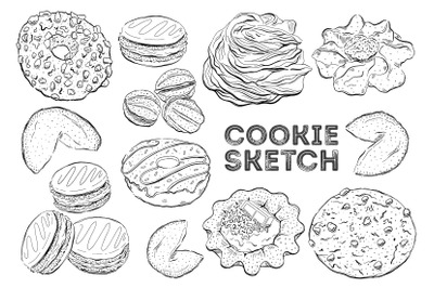 Cookie sketch set