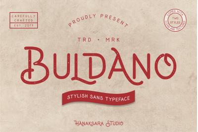 Buldano - Stylish Sans Typeface