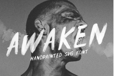 Hand drawn Brush SVG | Awaken Font