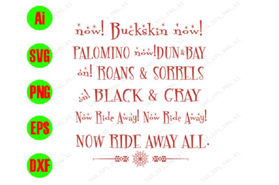 Now buckskin now! palomino! Black svg! gray! svg, dxf,eps,png, Digital