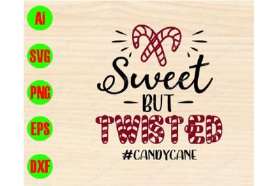 Sweet but twisted #candycane svg, dxf,eps,png, Digital Download