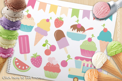 Ice-Cream Delivery Vector Clipart