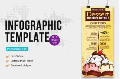 Ice Cream Info Graphic Template