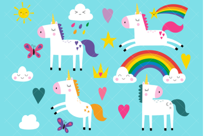 Unicorns Clip Art