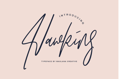 Hawkins Signature Brush Font