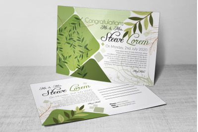 Floral Wedding Invitation  Postcard