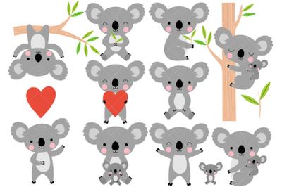 Koalas Clip Art, Australian Animals
