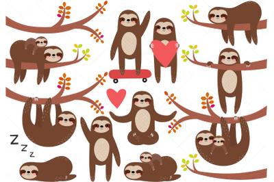 Sloths Clip Art