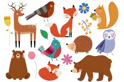Woodland Animals Clip Art, Forest Animals