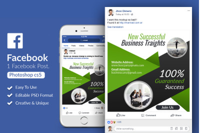 Corporate Business Facebook Post Banner