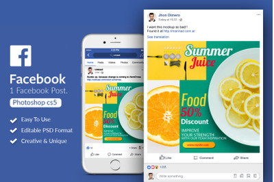 Facebook Post Banner - Food Discount