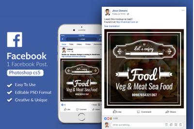 Restaurant Food Facebook Post Banner