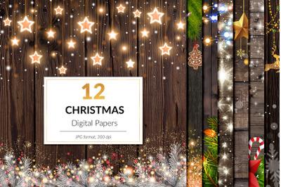 Magical Christmas Digital Papers