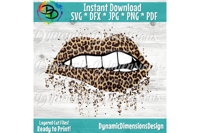 Sparkling Lips Animal Print SVG, Full Lip, Sparkle, Bling, SVG, Gift,