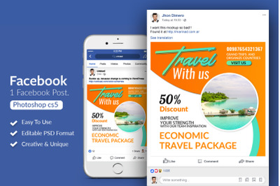 Tours & Travel Facebook Post Banners