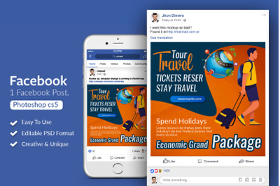 Tour & Traveling Agency Facebook Post