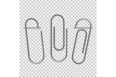 Paperclip on paper. Silver notepapers fix clip appliance and holders b