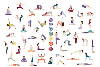 49 Yoga Postures for the 7 Chakras