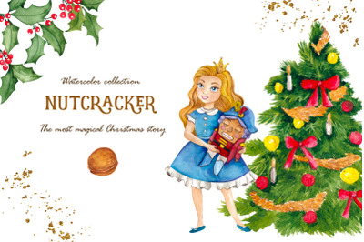 Nutcracker. Watercolor collection