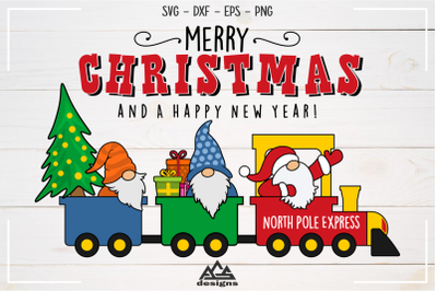 Gnome Santa North Pole Express Svg Design