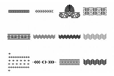 azteec ethnic decorative borders