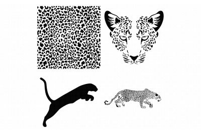 leopard animal print pattern SVG clipart