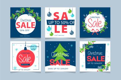 Christmas sale post collection