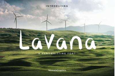 Lavana - A Handwritting Font