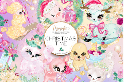 Christmas clip arts collection