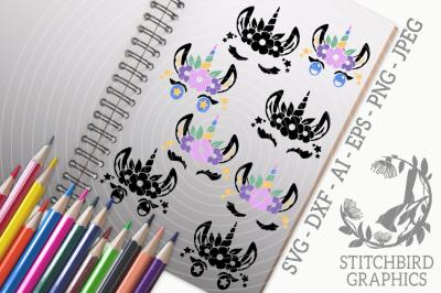 Unicorn Eyelashes SVG, Silhouette Studio, Cricut, Eps, Dxf,