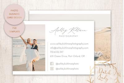 PSD Photo Business Card Template #1