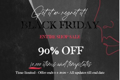 Black Friday Entire Shop SALE 2019
