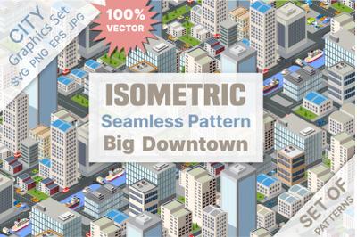Seamless urban plan pattern map