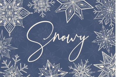 Snowy | snowflakes illustrations