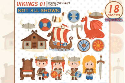 Cute Viking clipart, Nordic clip art, Scandinavian folk art