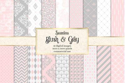 Blush and Gray Digital Paper