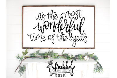 It's the Most Wonderful Time of the Year SVG {Hand Lettered}