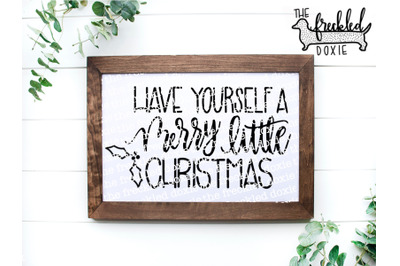 Have Yourself a Merry Little Christmas SVG {Hand Lettered}