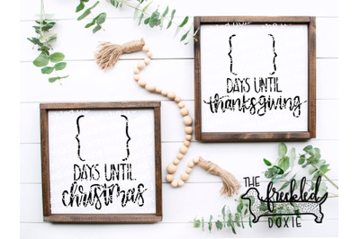COMBO: Countdown to Christmas & Thanksgiving {Hand Lettered}