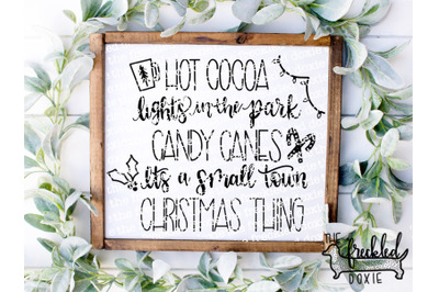 Small Town Christmas SVG {Hand Lettered}