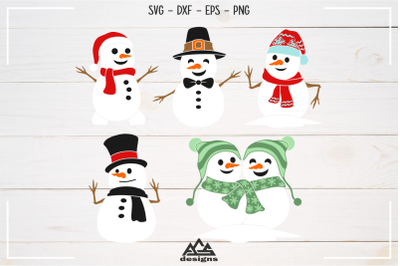 Snowman Winter Packs Svg Design