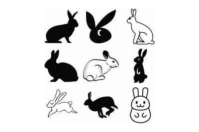 bunny, rabbit, hare, SVG file, DXF, free SVG cut file instant download